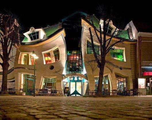 Krzywy Domek (Crooked House) in Sopot, Poland